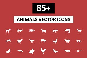 85+ Animals Vector Icons