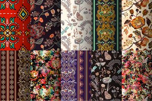 10 Bright Floral Patterns, Part I