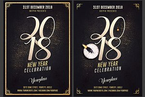 New Year Eve Invitation Flyer