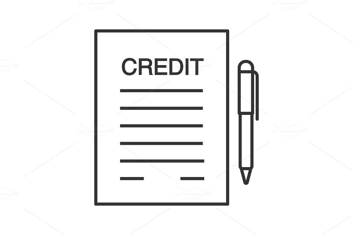 Credit agreement, contract linear icon
