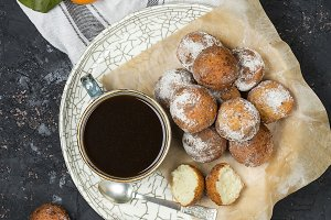 Cottage cheese fried donuts