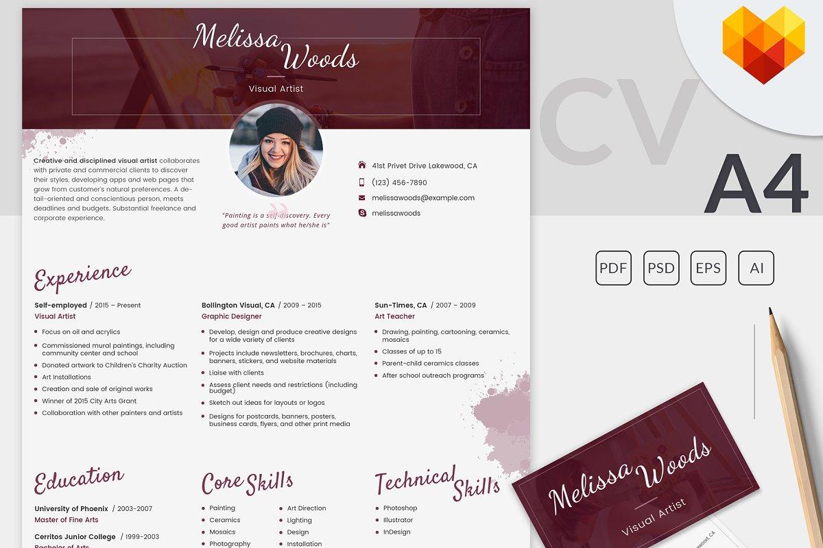 Artistic Creative Curriculum Vitae Best Resume Examples