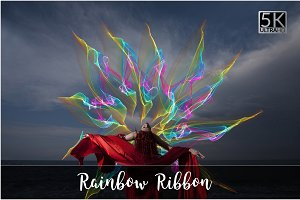 5K Rainbow Ribbon Overlays