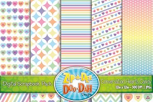 Conversation Hearts Digital Papers