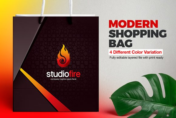 Shopping Bag Template Stationery Templates Creative Market