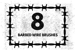 Barbed wire brushes