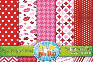 Valentine's Day Digital Paper Set