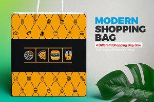 Shopping Bag Design Template | Food
