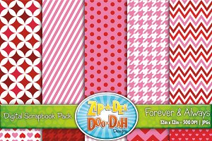 Forever & Always Digital Paper Set