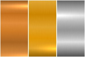 Metallic brushed textures
