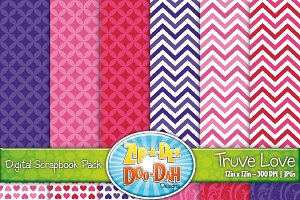 VDay True Love Digital Paper Set