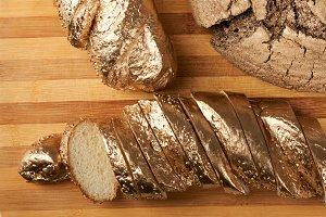 Gold bread concept
