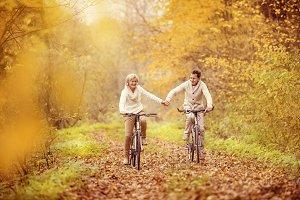 Senior couple in nature.