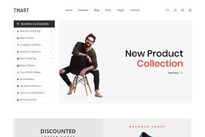Tmart – Free eCommerce Template