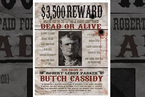"""Wanted"" poster - Wild West Style"
