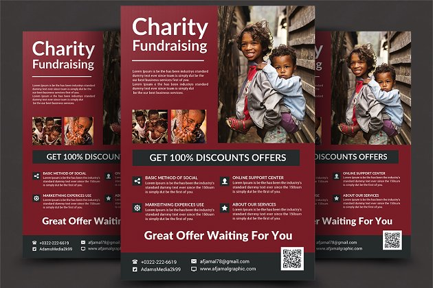Charity Fundrising Flyer Templates - Flyer Templates | Creative ...