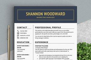 Elegant RESUME Template // Woodward