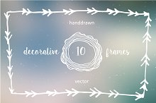 Set of 10 decorative frames