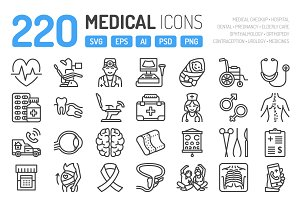 220 Medical Icons