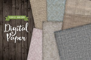 6 Texture Fabric Papers Set