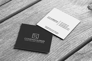 Mini Modern Minimal Business Card