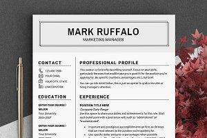 Minimalist RESUME Template CV