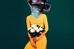 Contemporary art collage. Fun art.
