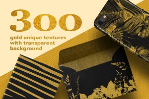 300 gold lithography textures