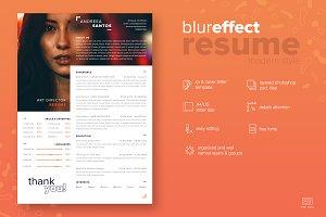 Blur Style Resume / CV - Modern
