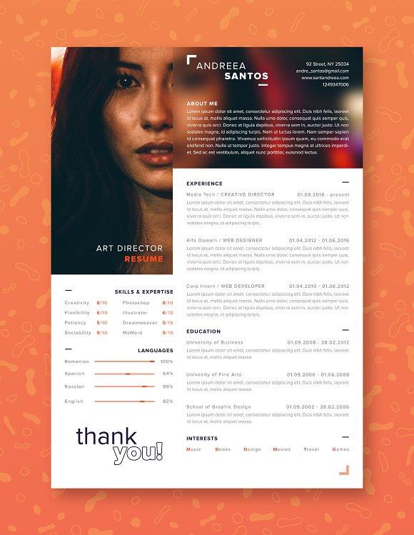 Blur Style Resume CV