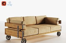 Industrial Sofa (v-ray, corona) by  in Furniture