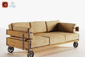 Industrial Sofa (v-ray, corona)