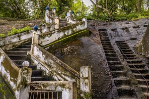 Ancient rocky staircase