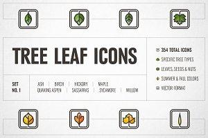 Tree Leaf Icons – Set No. 1