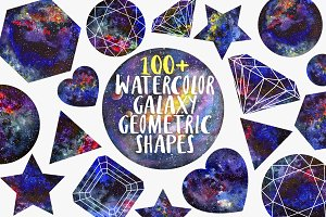 20% off Watercolor Geometric shapes