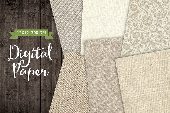 Fabric Texture Paper Background Set