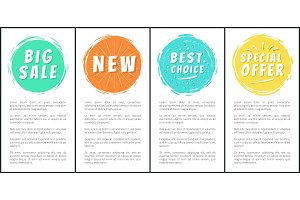 Big Sale New Special Offer Best Choice Set Labels