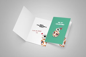Cute Droid Card for Wishes