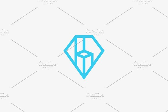 Diamond Gem Vector Logo Design Premium Furniture Chair Interior Linear Idea Logotype