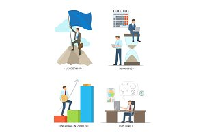 Leadership and Planning on Vector Illustration