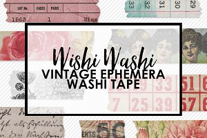 Wishi Washi Vintage Ephemera Tape