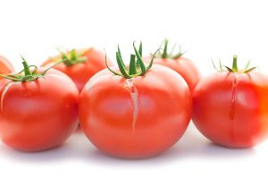 Group of red fresh tomatoes