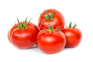 Group of red fresh ripe tomatoes