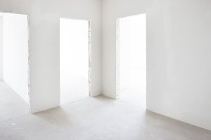 White room with entrance