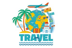 Travel - Vector Concept Illustration