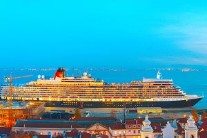 Ship in Lisbon passangers port