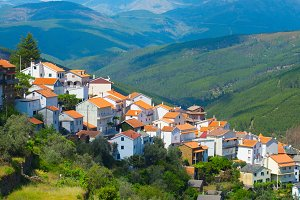 Typical mountains Portugal village