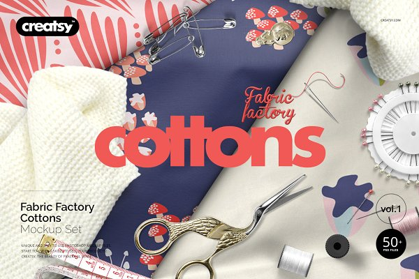 Fabric Factory vol.1: Cotton Mockup…