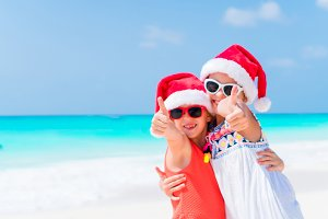 Christmas vacation. Kids are happy celebrating their Xmas vacation