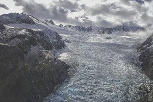 Aerial view on glacier